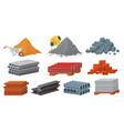 construction materials set flat vector image