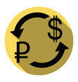 currency exchange sign rouble and us dollar vector image vector image