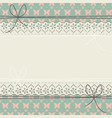 decorative horizontal lace frame with flowers vector image vector image