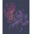 fashion couple of birds vector image vector image