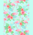 flamingo tropical pattern vector image vector image