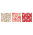 floral seamless pattern set vector image