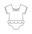 girl baby cloth in black and white vector image
