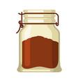glass jar with tea food vector image