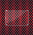 Glass plate on red background vector image vector image