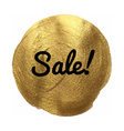 Golden Sale Banner vector image
