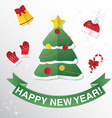 Greeting Card with Christmas tree Congratulations vector image vector image