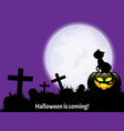halloween background with halloween is coming text vector image