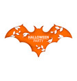 halloween cut paper bat vector image