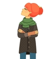 Haughty girl with head up vector image vector image