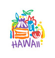 hawaii island logo template original design vector image vector image