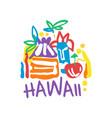 hawaii island logo template original design vector image