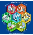 Healthcare 01 Cells Isometric vector image vector image