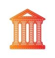 Historical building Orange applique vector image