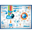 Infographics Elements for cloud computing graphs vector image