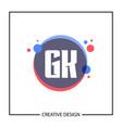 initial gk letter logo template design vector image vector image