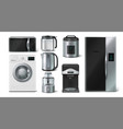kitchen appliance domestic electronic house hold vector image