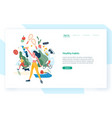 landing page template with people performing vector image
