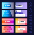 large set colored abstract business card vector image vector image