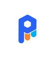 letter p logo icon concept vector image vector image