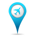 location airplane icon vector image vector image