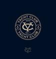 logo yacht club y c monogram sea marima vector image vector image