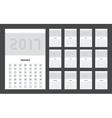 modern calendar 2017 on black vector image vector image