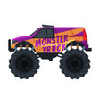 monster truck vehicle heavy jeep car with large vector image