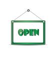 Open signboard vector image vector image