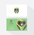 Owl document template vector image