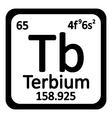 Periodic table element terbium icon vector image vector image