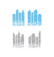 Pixelated skyscraper graphic design template