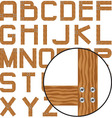 planks alphabet vector image
