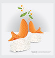 poster sushi fish vector image vector image