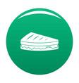 sandwich icon green vector image