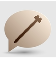 Screw sign Brown gradient icon on vector image vector image