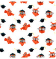 seamless pattern made owls vector image vector image