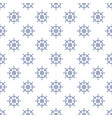 seamless pattern with boats wheel line style vector image vector image