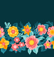 seamless pattern with pretty flowers beautiful vector image