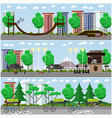set of transport posters banners in flat vector image vector image