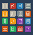 simple documents and library icons set for vector image vector image