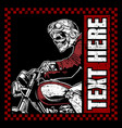 skull bikers wearing helmet hand drawing vector image vector image