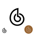 snail house logo snail shell line style elegant vector image vector image