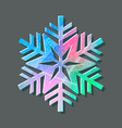 snowflake color logo with texture scratched with vector image vector image