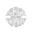 social media abstract linear concept layout vector image
