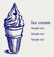 Soft serve ice vector image