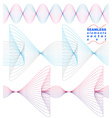 Sophisticated 3d curve decoration clear eps8 vector image vector image
