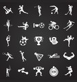 sport disciplines set on black background vector image