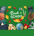student book notebook and globe back to school vector image vector image