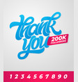 thank you 200k followers editable banner vector image vector image
